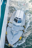 Piloto Boat Alongside Ship Fotografía de archivo