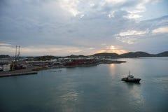 Piloto Boat - Noumea, Nova Caledônia imagem de stock