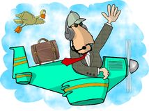 Piloto confidencial ilustração do vetor