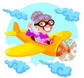 Piloto da avó Fotografia de Stock