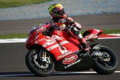 Piloto da equipe de Ducati Pramac Fotografia de Stock