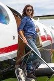 Piloto das mulheres Fotografia de Stock Royalty Free