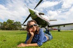 Piloto das mulheres Imagem de Stock Royalty Free
