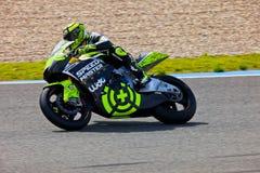 Piloto de Andrea Iannone do motorcycling de Moto2 Fotografia de Stock