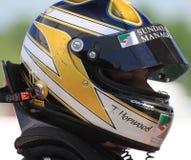 Piloto de carreras de KIA Fotografía de archivo