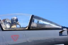 Piloto de caza de la fuerza aérea Foto de archivo