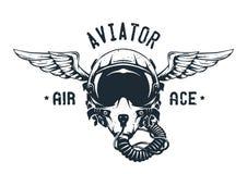 Piloto de caza Helmet Emblem libre illustration