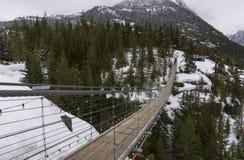 Piloto de cielo Suspension Bridge Foto de archivo