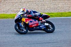 Piloto de Danny Kent de 125cc en el MotoGP imágenes de archivo libres de regalías