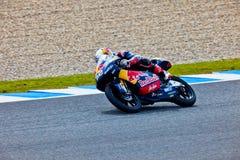Piloto de Danny Kent de 125cc en el MotoGP fotografía de archivo