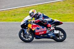Piloto de Danny Kent de 125cc en el MotoGP imagen de archivo libre de regalías