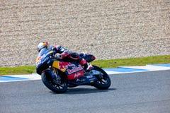 Piloto de Danny Kent de 125cc en el MotoGP imagen de archivo
