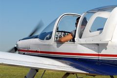 Piloto de jato Fotografia de Stock