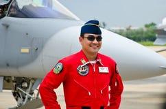 Piloto de la fuerza aérea indonesia. Fotografía de archivo