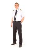 Piloto de la línea aérea imágenes de archivo libres de regalías