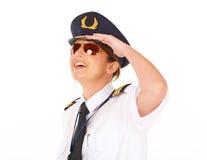 Piloto de la línea aérea fotografía de archivo libre de regalías