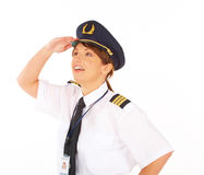 Piloto de la línea aérea Fotos de archivo