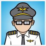 Piloto de la línea aérea stock de ilustración