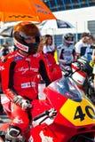 Piloto de Roman Ramos de Moto2 del campeonato de CEV Imagenes de archivo