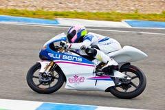 Piloto de Sergio Gadea de 125cc en el MOTOGP imagenes de archivo