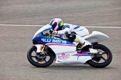 Piloto de Sergio Gadea del motorismo de 125cc fotografía de archivo libre de regalías