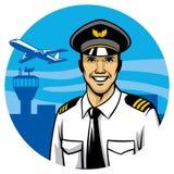 Piloto de sorriso Fotografia de Stock Royalty Free
