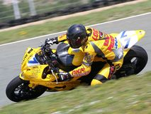 Piloto de Superbike Foto de Stock