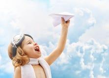 Piloto del aeroplano Imagen de archivo libre de regalías