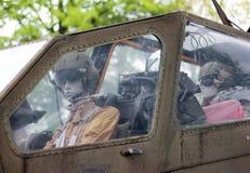 Piloto del helicóptero Fotografía de archivo
