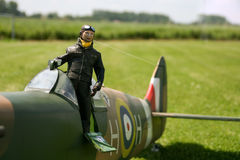 Piloto do modelo de RC Fotos de Stock Royalty Free
