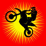 Piloto do motocross Fotografia de Stock