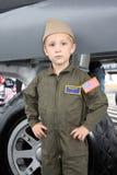 Piloto do rapaz pequeno Fotos de Stock