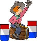 Piloto do tambor ilustração royalty free