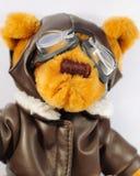 Piloto do urso da peluche foto de stock royalty free