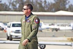 Piloto dos aviões de lutador táticos da ave de rapina de Lockheed Martin F-22 Fotos de Stock Royalty Free