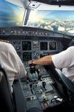 Piloto en el aeroplano Imagen de archivo libre de regalías