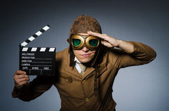 Piloto engraçado com óculos de proteção fotos de stock