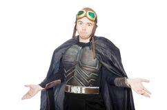 Piloto engraçado com os óculos de proteção isolados Imagens de Stock Royalty Free