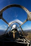 Piloto, escudo de John, Jr. no falcão de Curtis P-36 Imagem de Stock Royalty Free