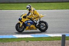 Piloto italiano Valentino Rossi do motogp Foto de Stock