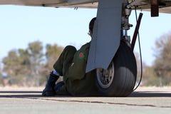 Piloto militar Fotos de Stock Royalty Free