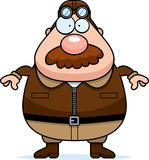 Piloto Mustache dos desenhos animados ilustração royalty free