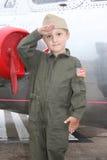 Piloto novo da marinha do menino Foto de Stock Royalty Free