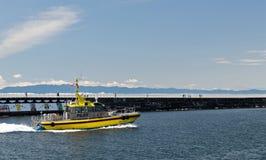Piloto pacífico Boat do escuteiro fotografia de stock