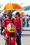 Piloto romano de Ramos de Moto2 del CEV Imágenes de archivo libres de regalías