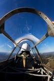 Piloto, shell de Juan, Jr. en el halcón de Curtis P-36 Imagen de archivo libre de regalías
