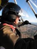 Piloto Ultralight fotos de stock royalty free