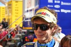 Piloto Valentino Rossi, equipe de Yamaha Fiat Fotos de Stock