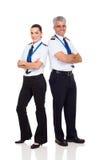 Piloto y copiloto Imagen de archivo libre de regalías
