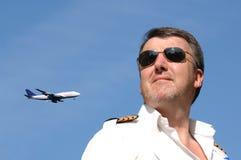 Piloto y jet Imagen de archivo libre de regalías
